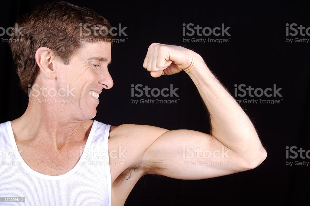 Healthy Middle-aged Man stock photo