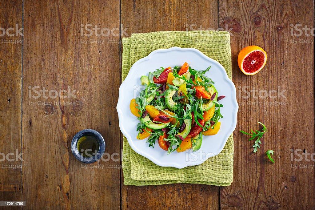 Healthy Moroccan salad stock photo