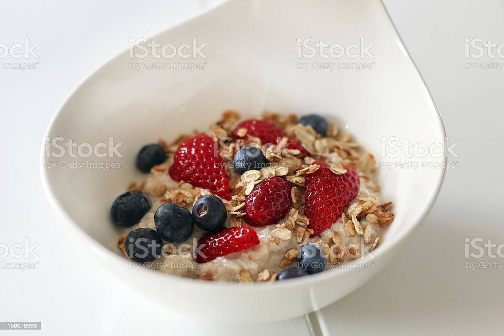 Healthy muesli with several fruits stock photo