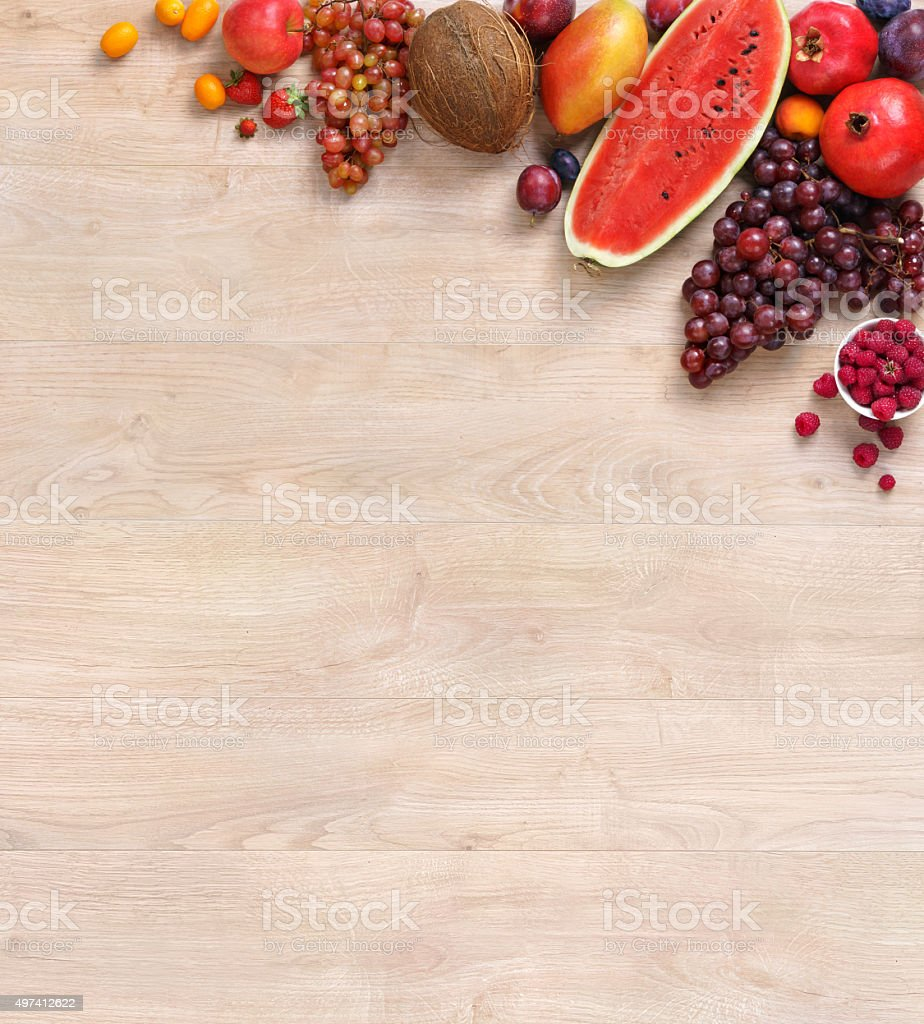 Healthy natural fruit background stock photo