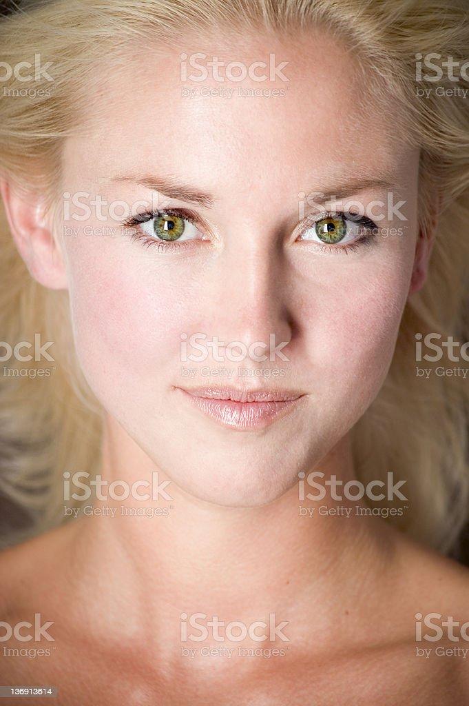 Healthy Natural Woman royalty-free stock photo