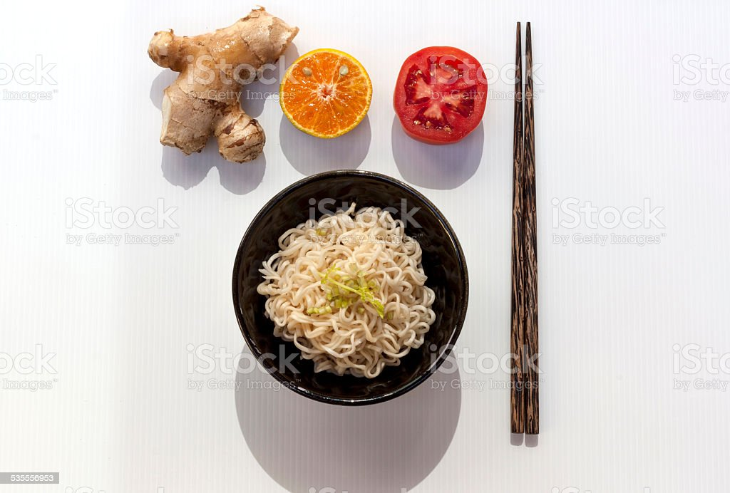 Healthy noodle set royalty-free stock photo