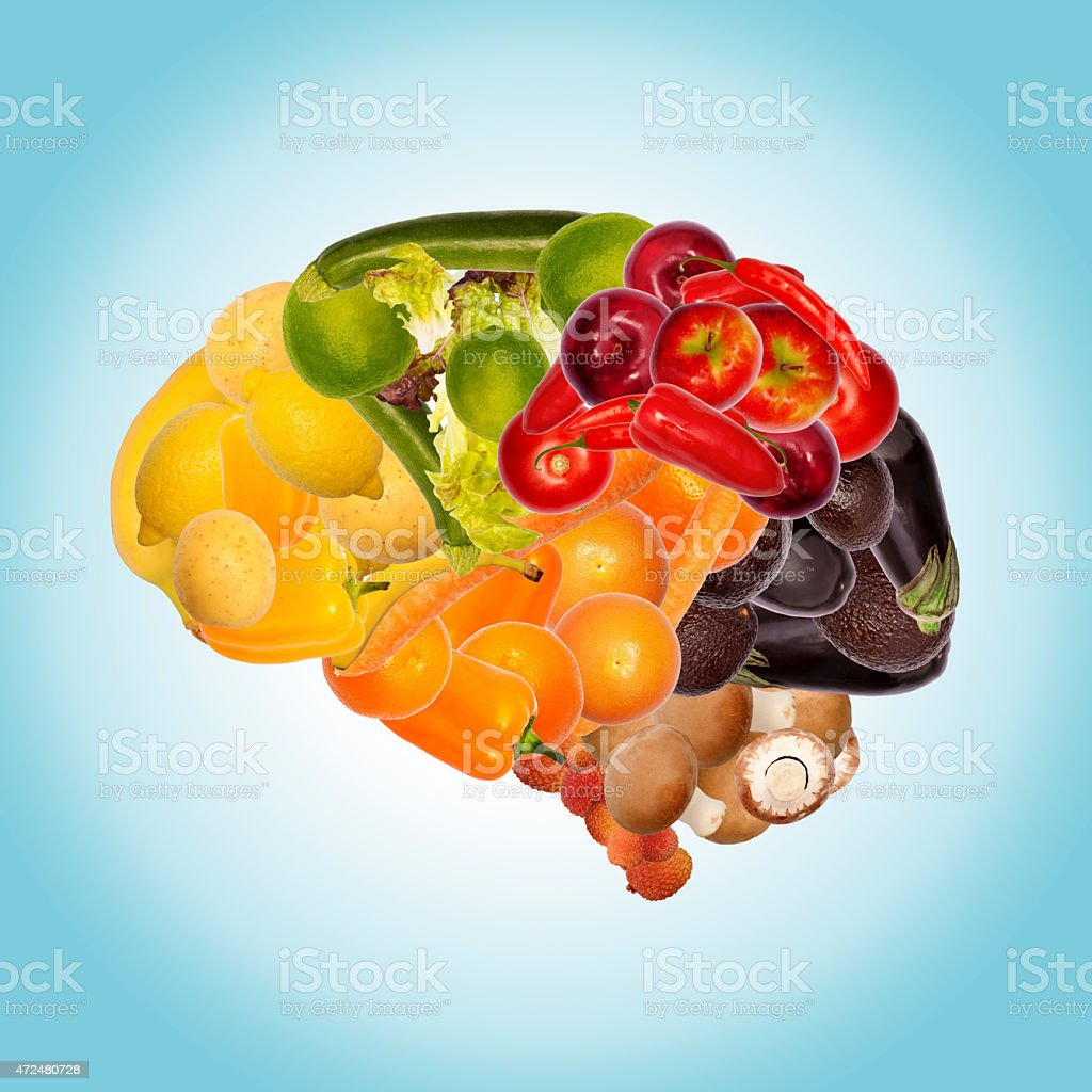healthy nutrition against dementia stock photo
