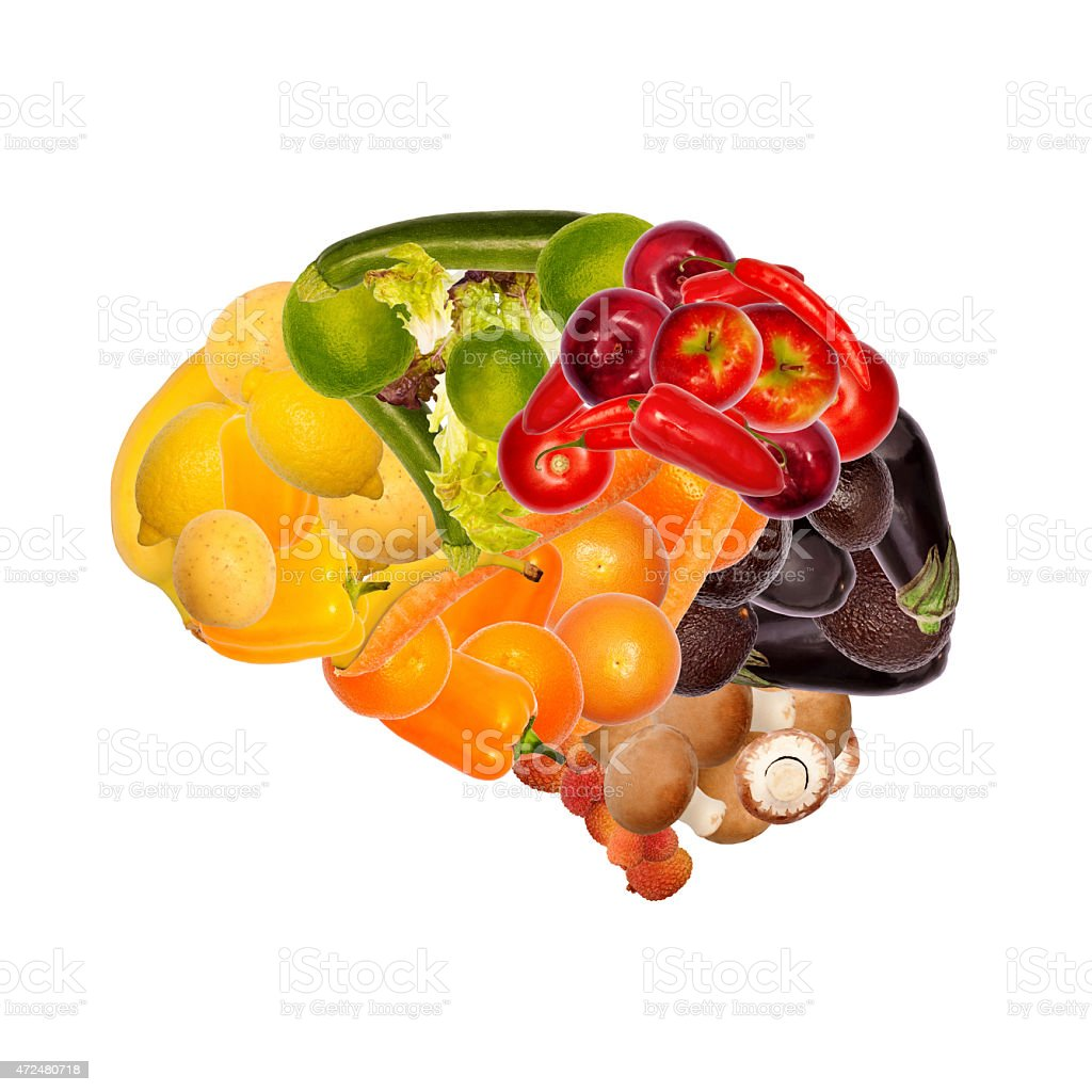 healthy nutrition is good for brain stock photo