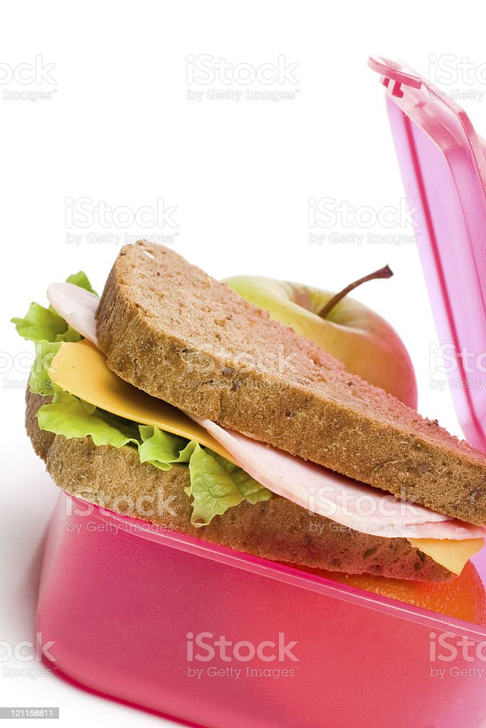 A healthy nutritious packed lunch royalty-free stock photo