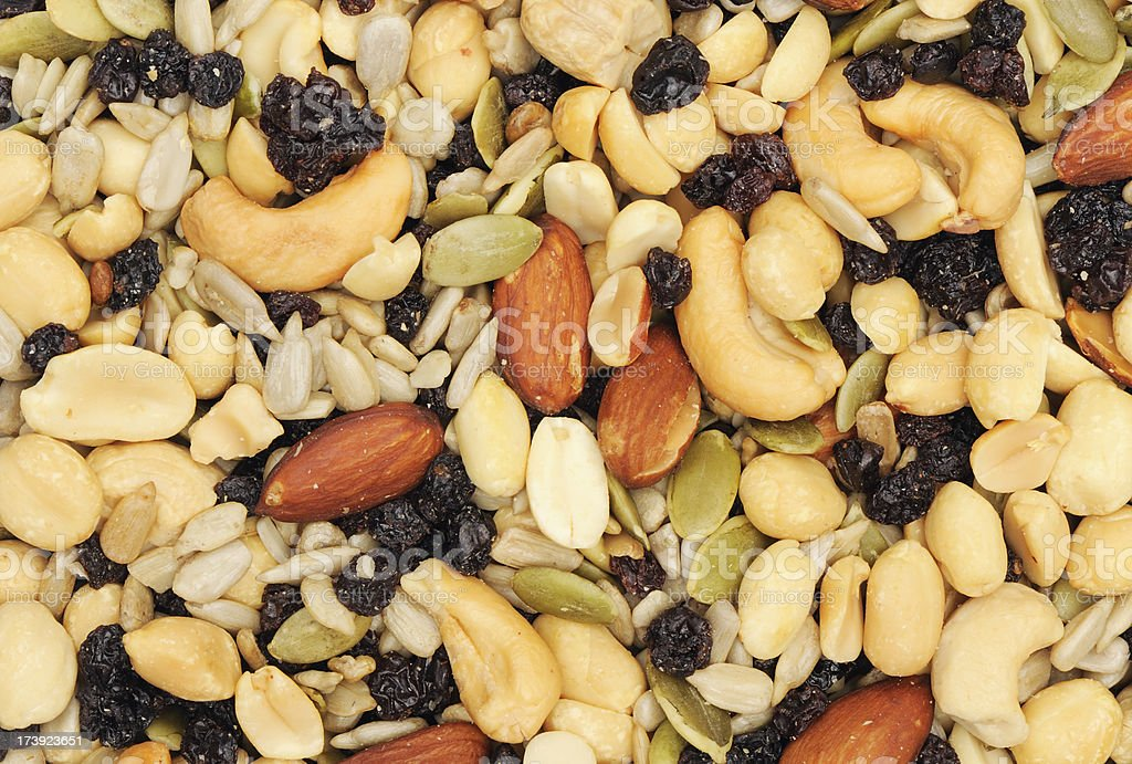 Healthy nuts and seeds mix royalty-free stock photo