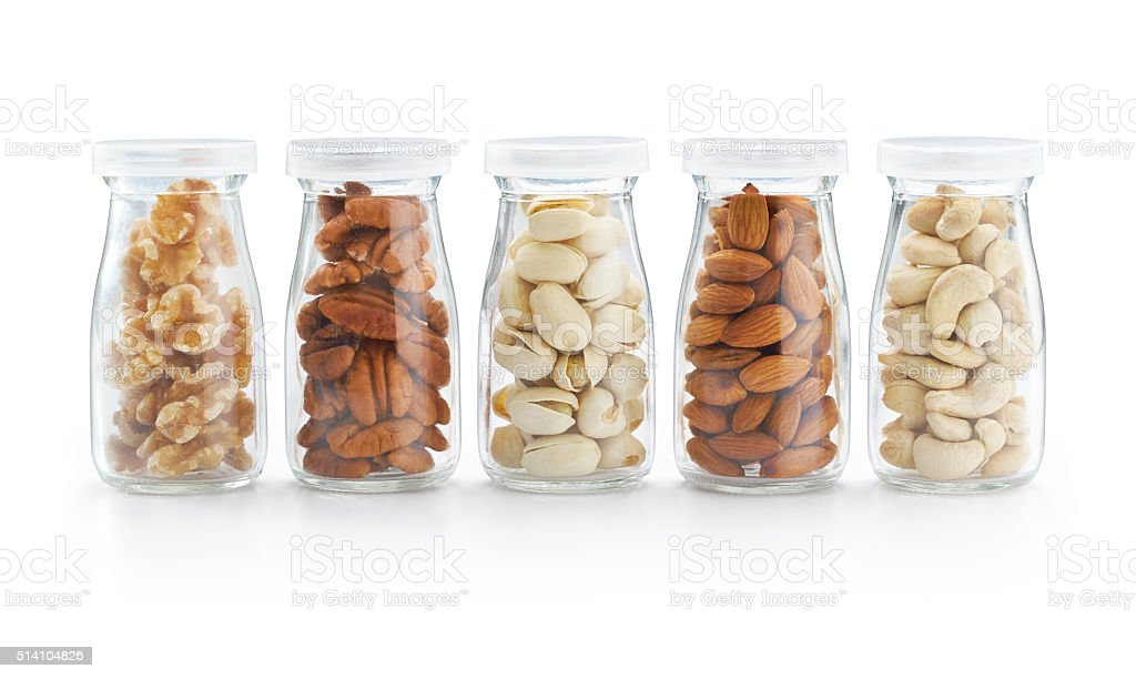 Healthy Nuts in the Bottle stock photo