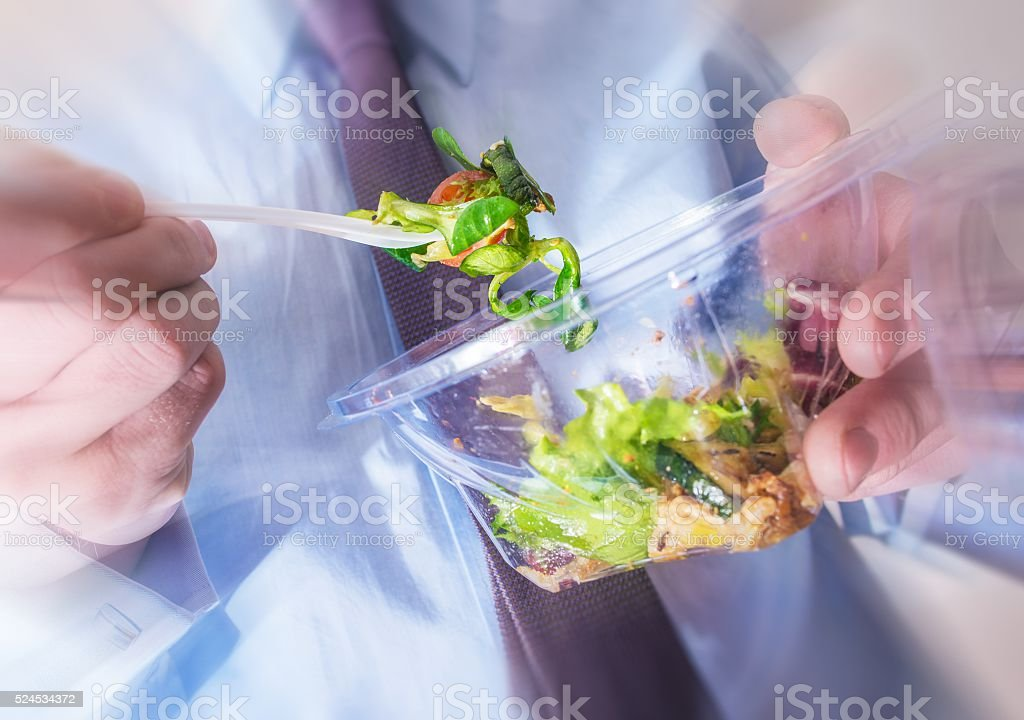 Healthy Office Food Eating stock photo