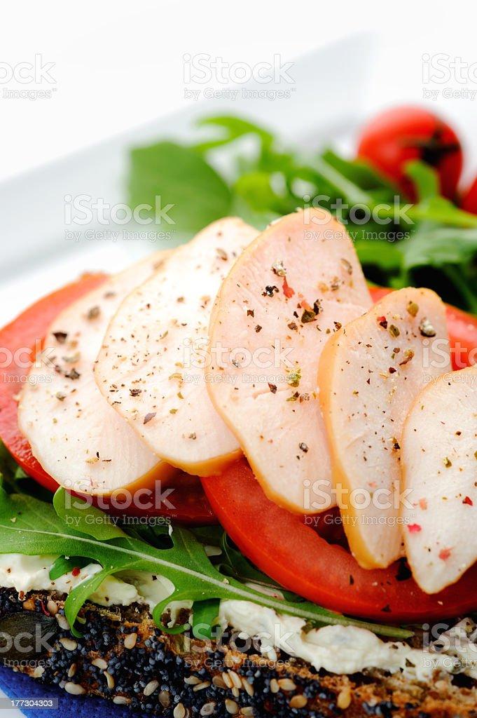 Healthy open sandwich lunch stock photo