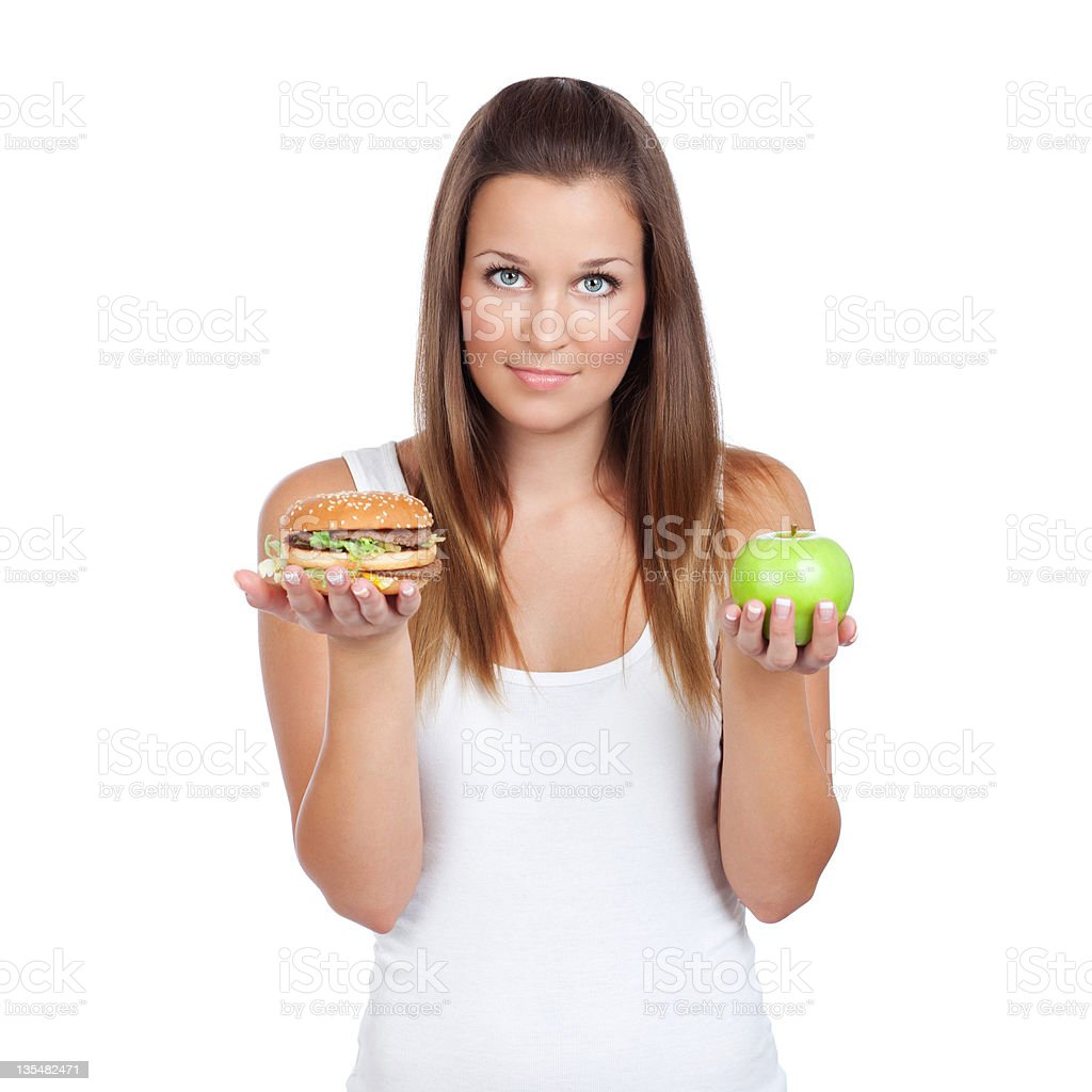Healthy or tasty? royalty-free stock photo