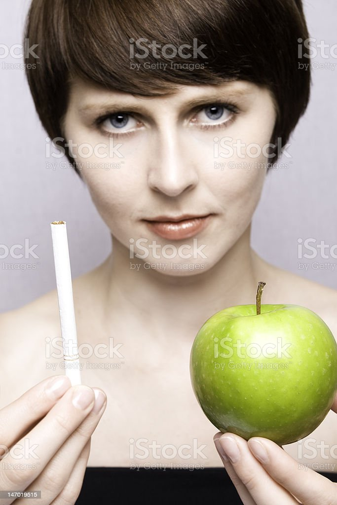 healthy or unhealthy stock photo