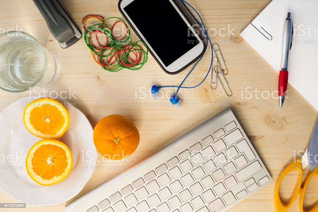 Healthy orange fruit stock photo
