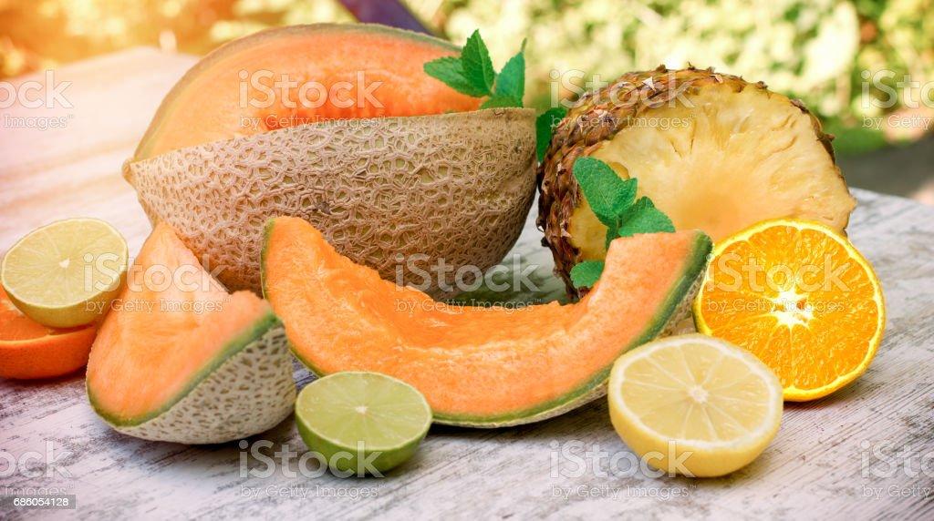 Healthy organic food - fresh, juicy and juicy (tasty) fruit stock photo