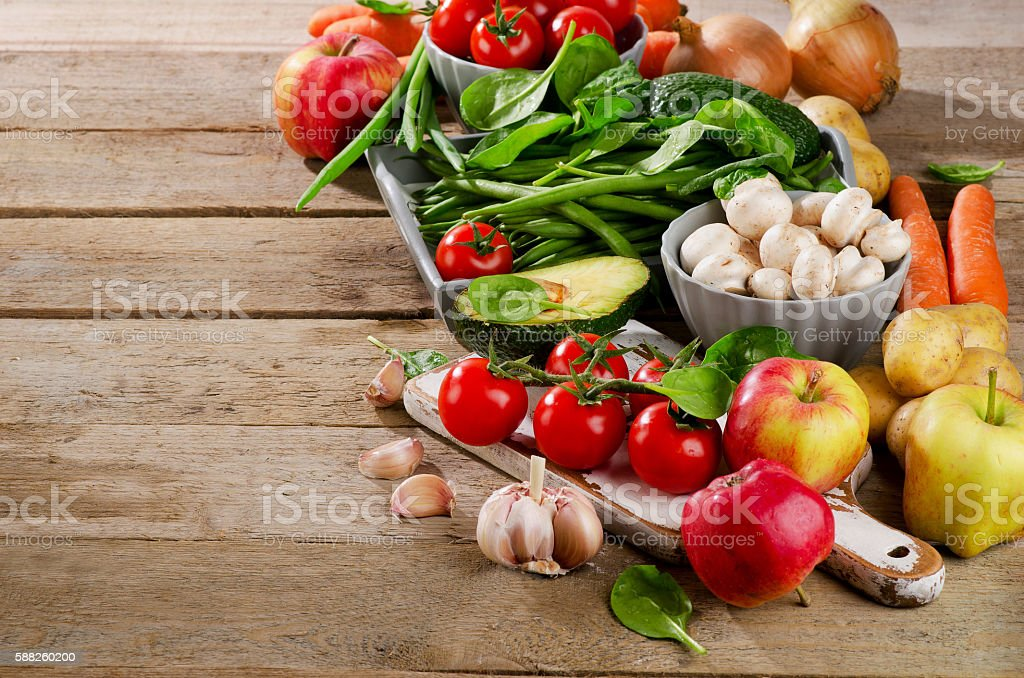Healthy organic foods. Diet eating. stock photo