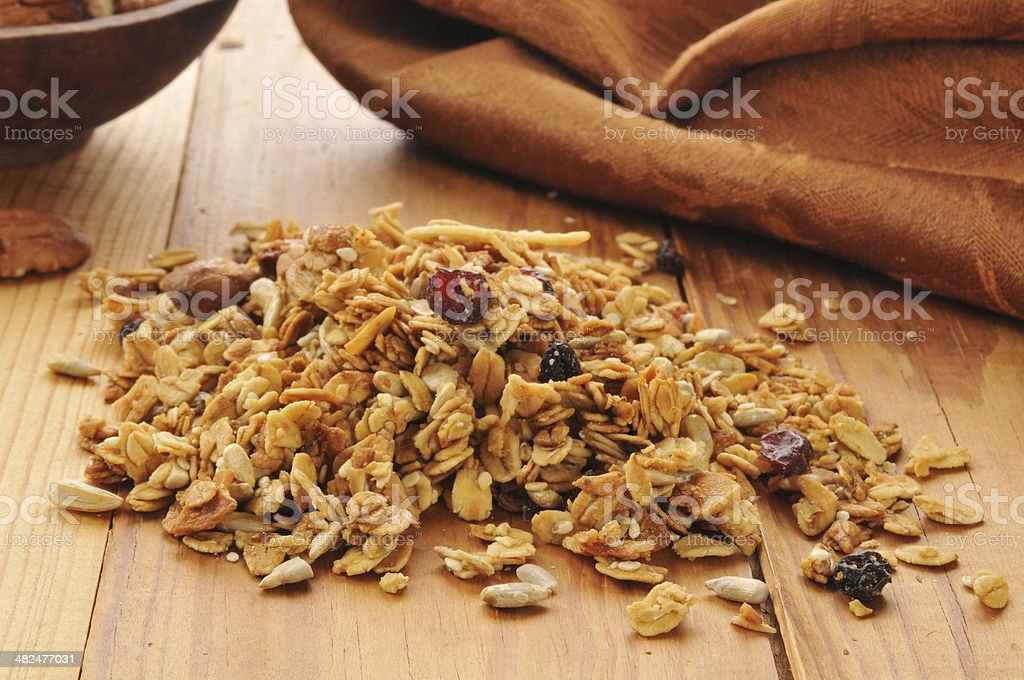 Healthy organic granola stock photo