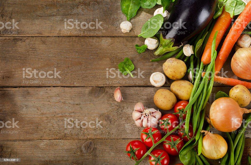 Healthy organic vegetables. stock photo