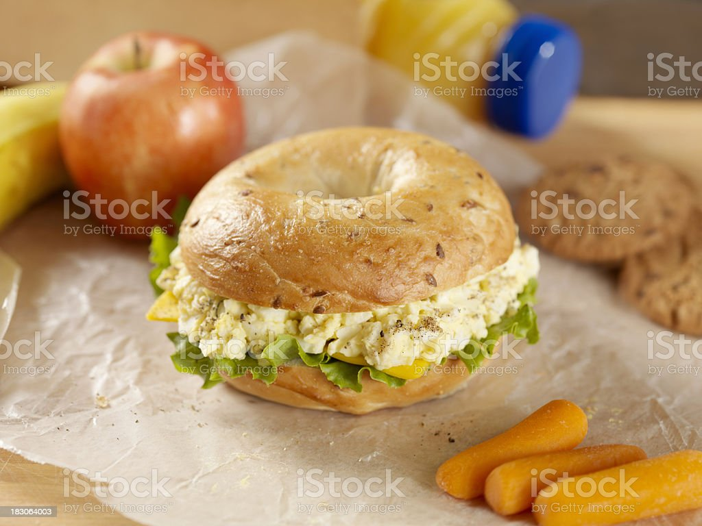 Healthy Packed Lunch stock photo