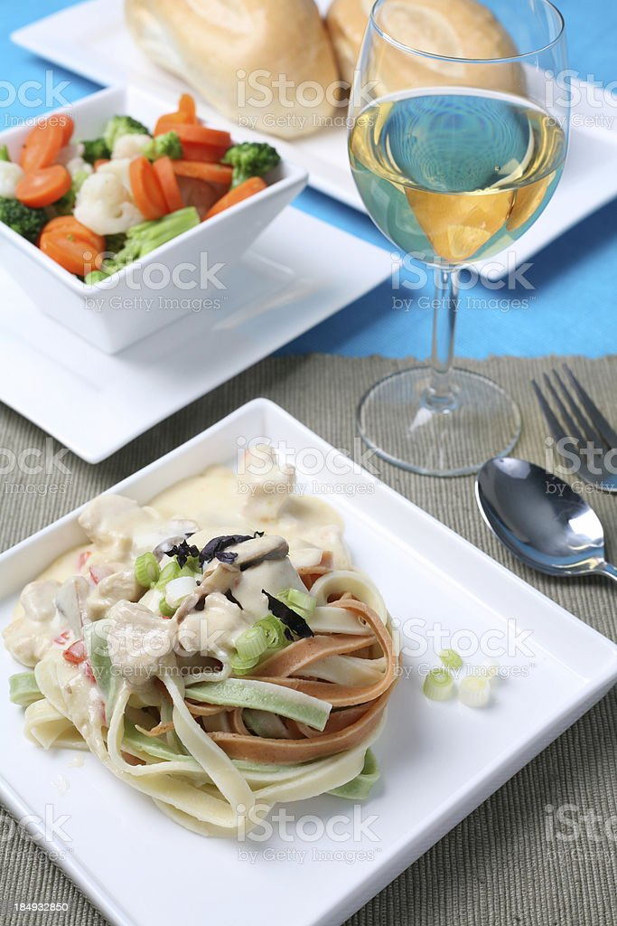 Healthy Pasta meal royalty-free stock photo