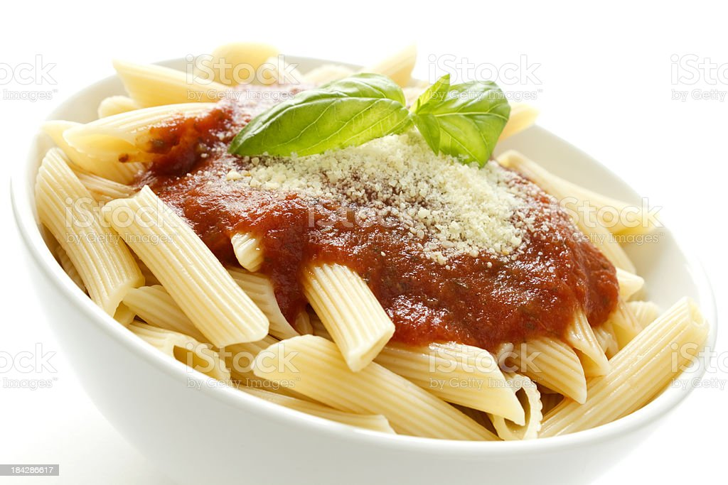 Healthy pasta stock photo