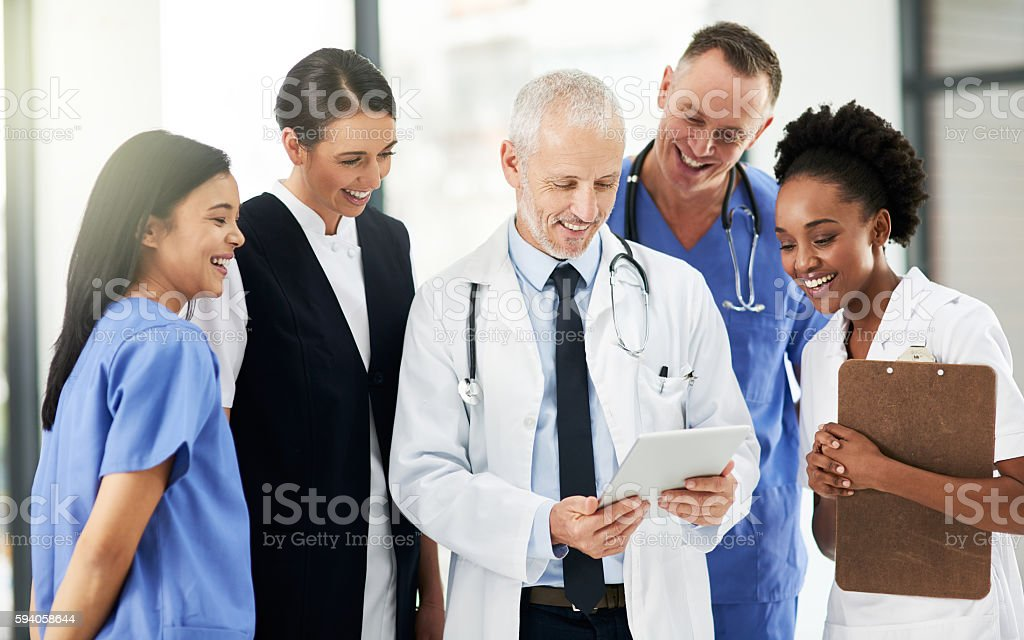 Healthy Patients Make For Happy Doctors Royalty Free Stock Photo