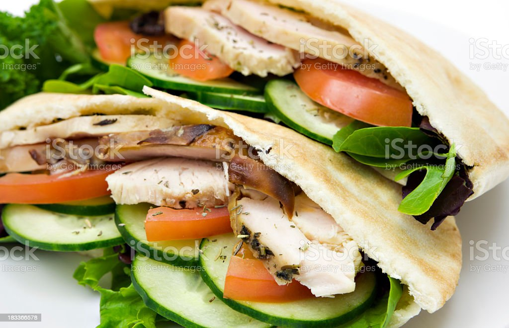 Healthy pita lunch stock photo