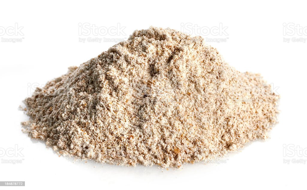 Healthy plain whole wheat flour that can be used for baking stock photo