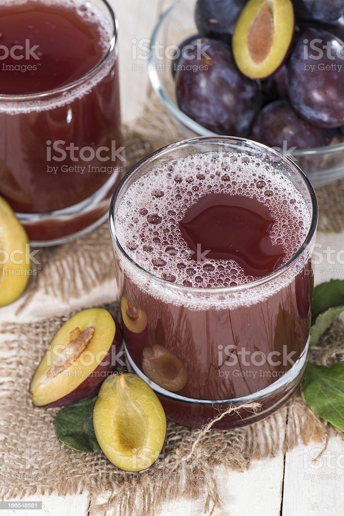 Healthy Plum Juice royalty-free stock photo