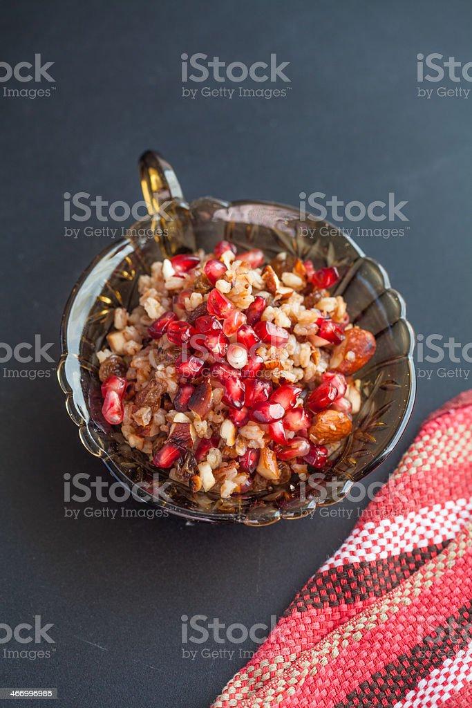 Healthy Pomegranate Salad stock photo