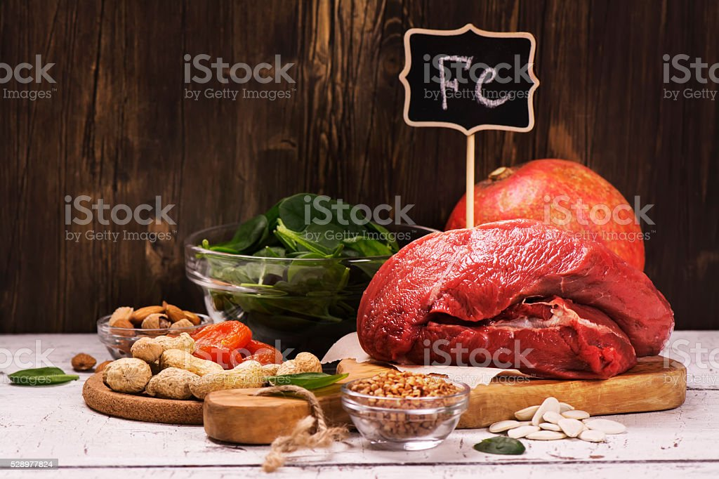 Healthy product rich of iron stock photo