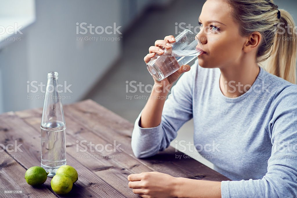 Healthy refreshment stock photo
