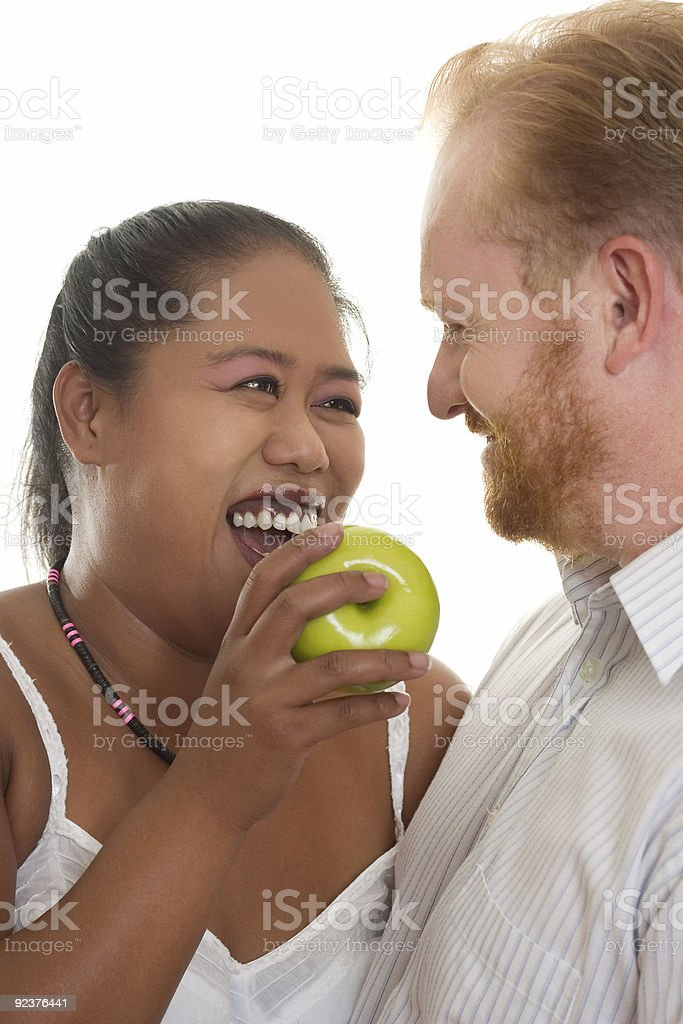 Healthy Relationships - couple laughing royalty-free stock photo