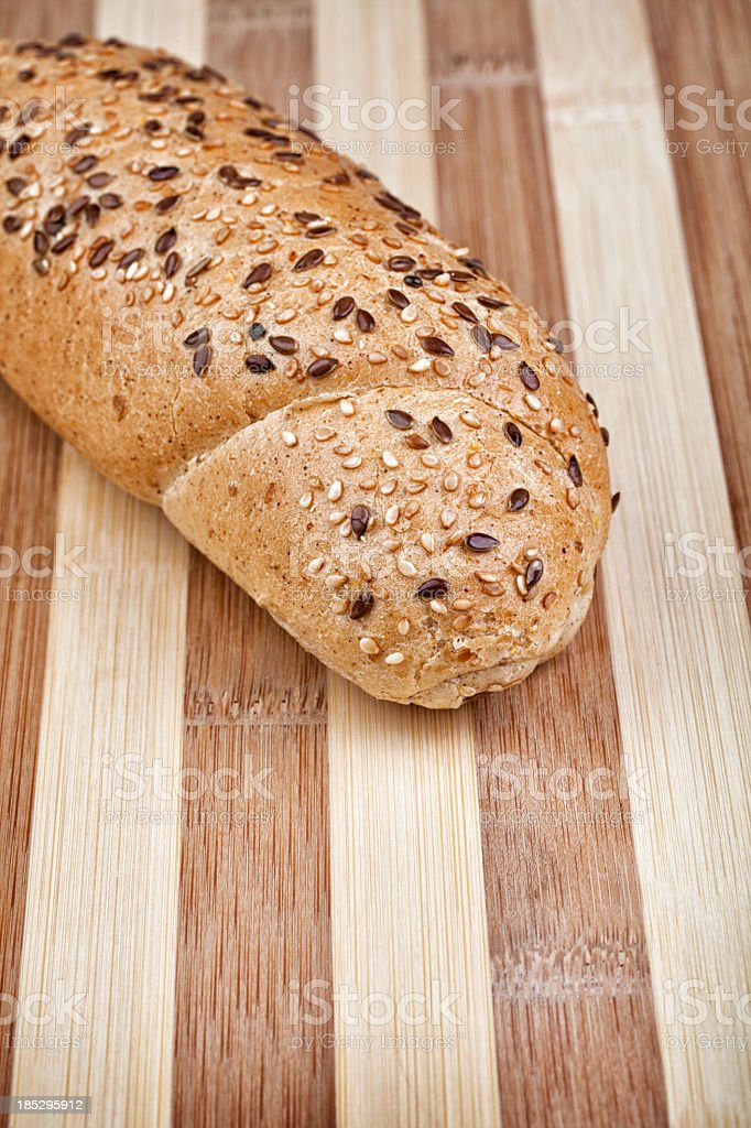 Healthy rye roll close up royalty-free stock photo