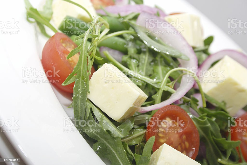 healthy salad choice stock photo