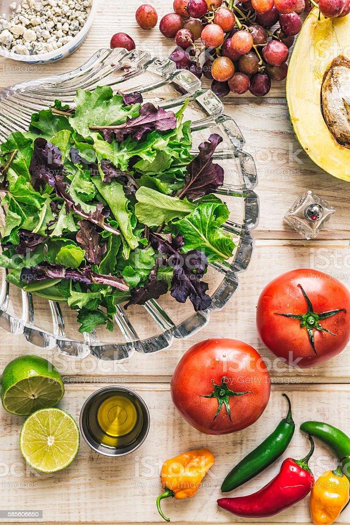 Healthy Salad Ingredients stock photo