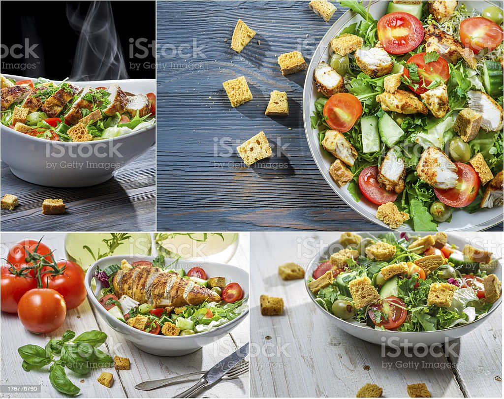 Healthy salad made from fresh vegetables royalty-free stock photo