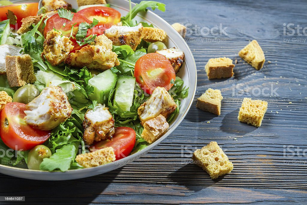Healthy salad made of fresh vegetables royalty-free stock photo