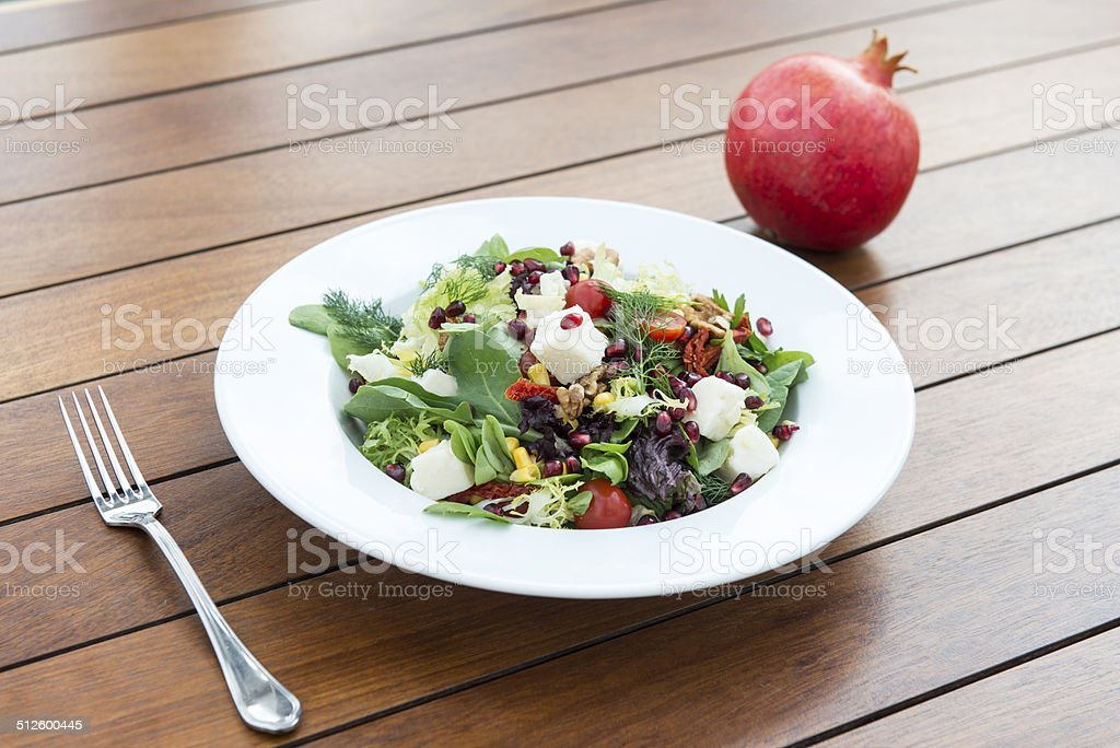 Healthy salad with fresh ingredients stock photo