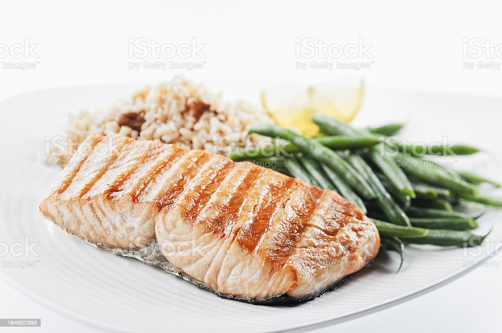 Healthy Salmon Dinner royalty-free stock photo