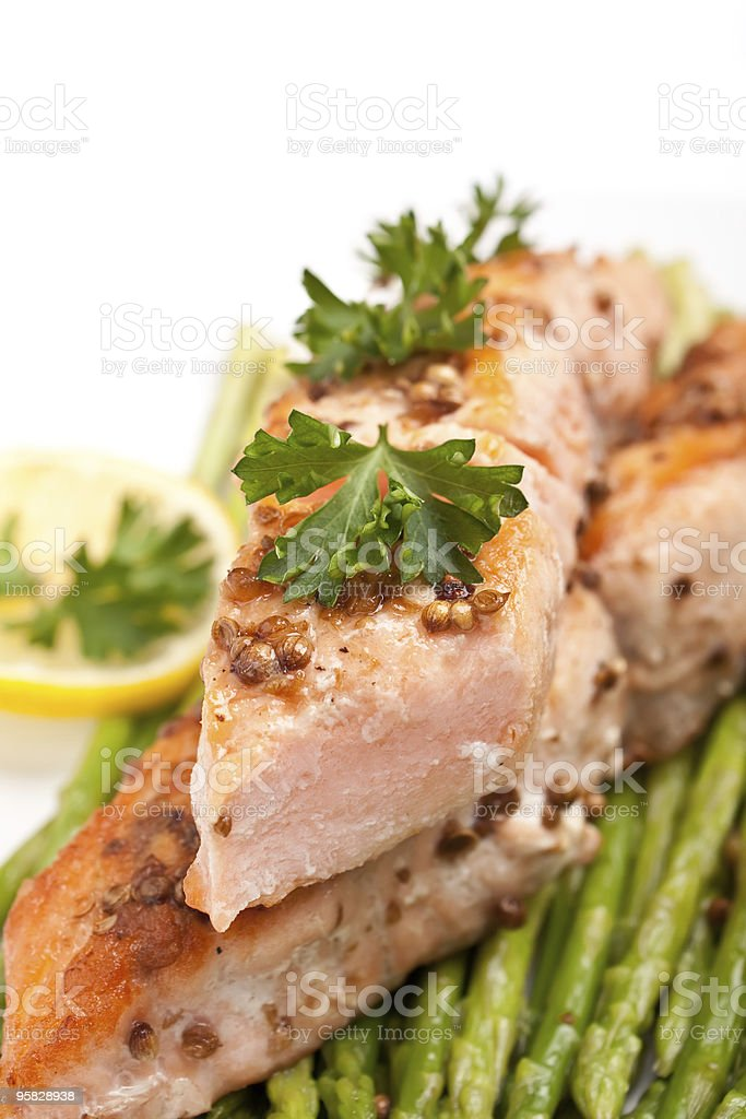 healthy  salmon royalty-free stock photo