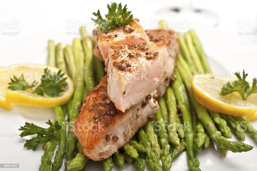 healthy salmon royalty-free stock photo