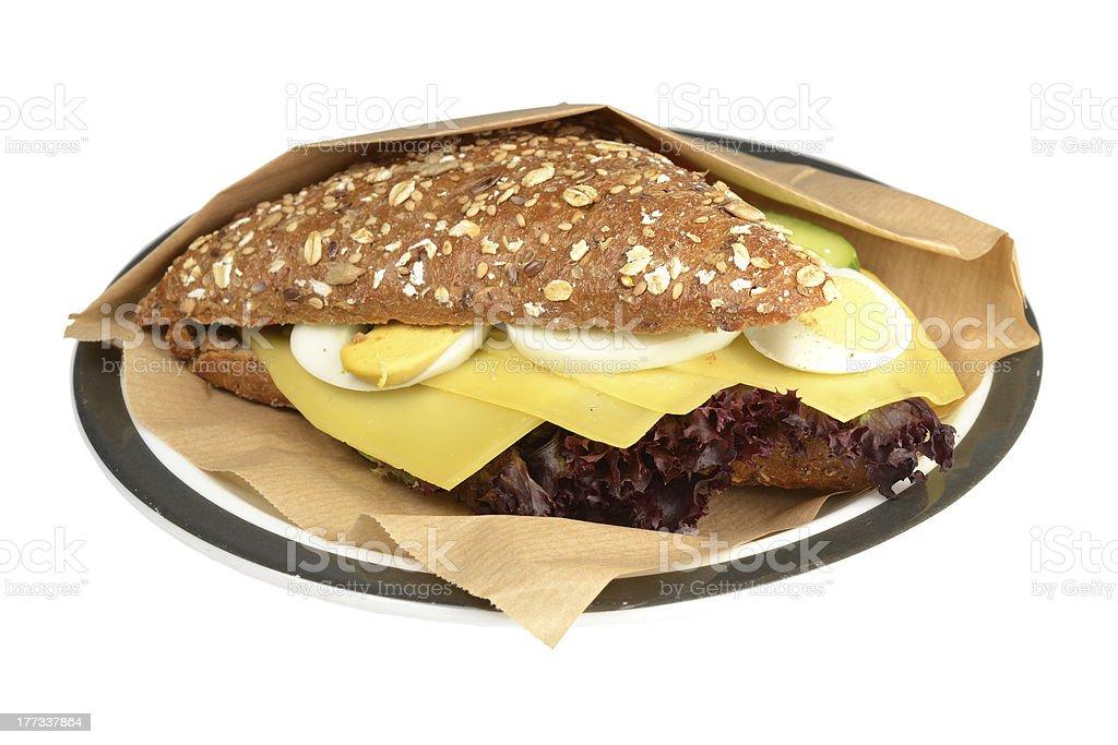 ヘルシーなサンドイッチをご用意しております。 ロイヤリティフリーストックフォト