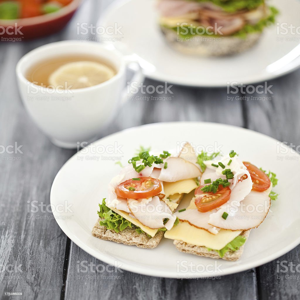 Healthy sandwiches royalty-free stock photo