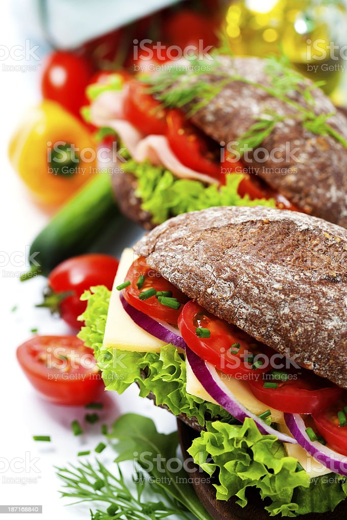 healthy sandwiches stock photo