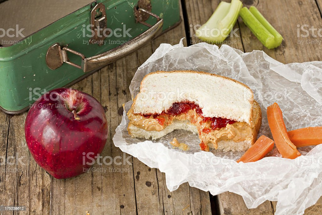 Healthy School Lunch royalty-free stock photo