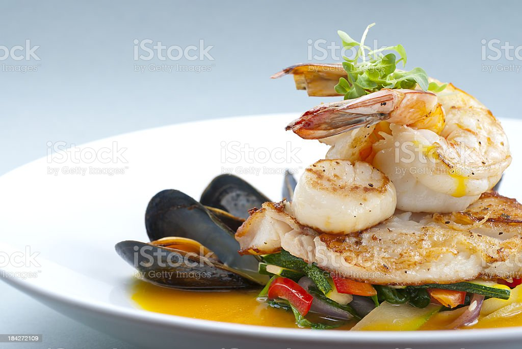 Healthy Seafood stock photo
