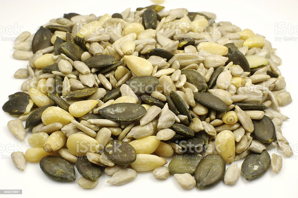 Healthy seed snack royalty-free stock photo