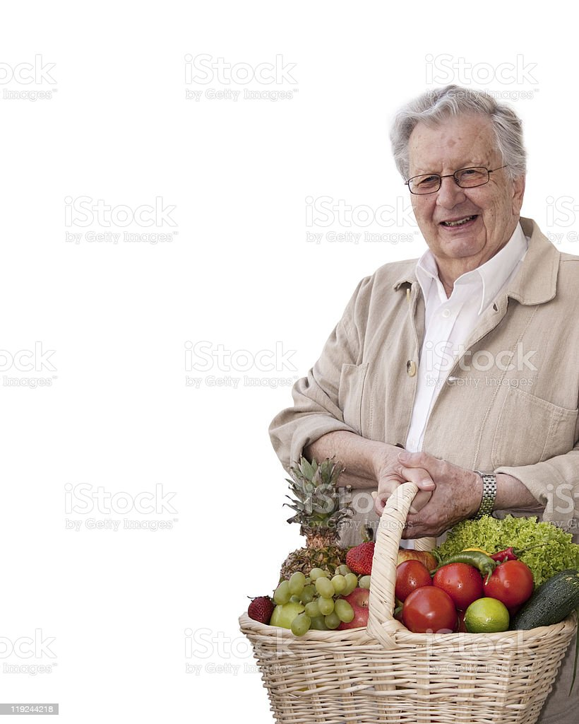 Healthy senior man royalty-free stock photo