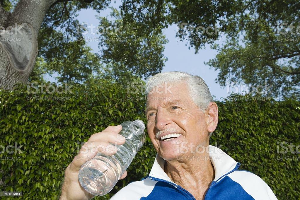 Healthy senior man royalty-free stock photo