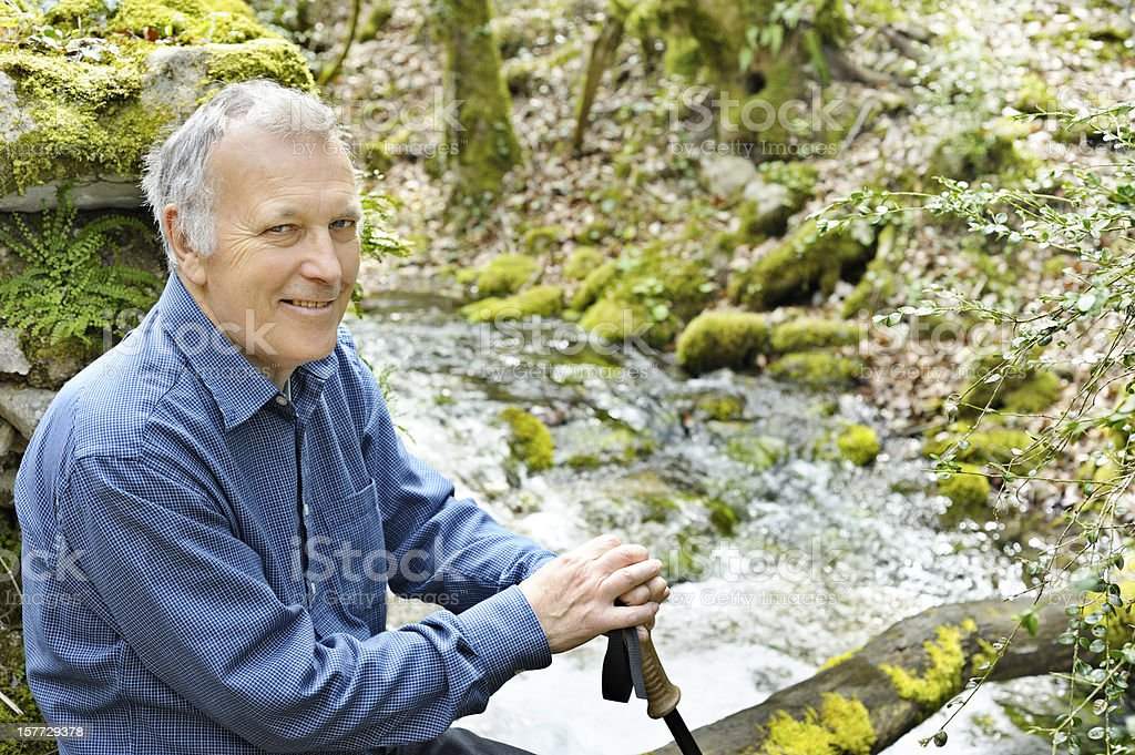 Healthy senior outdoors man royalty-free stock photo