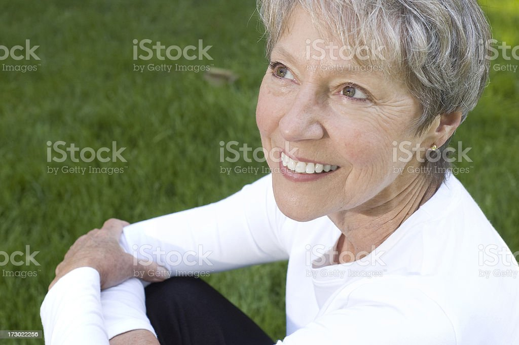 Healthy Senior Woman royalty-free stock photo